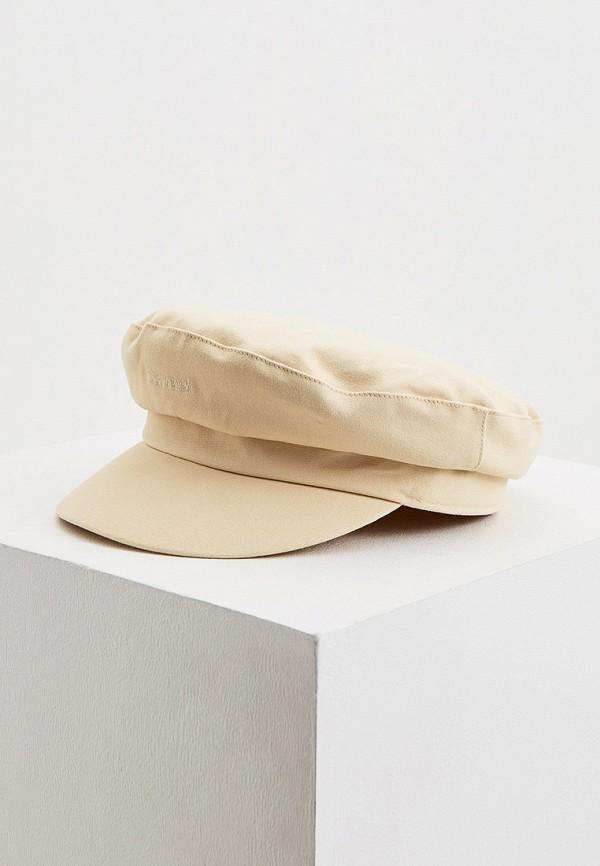 женская кепка calvin klein, бежевая