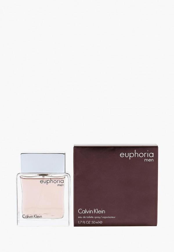 Туалетная вода Calvin Klein, Euphoria For Men 50 мл, ca105dmbz446, белый, Весна-лето 2019  - купить со скидкой