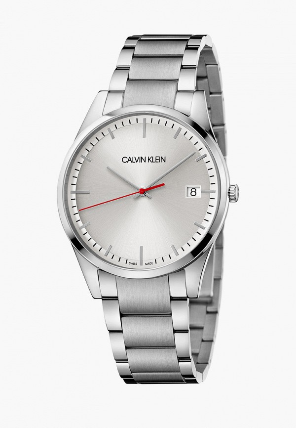 мужские часы calvin klein, серебряные