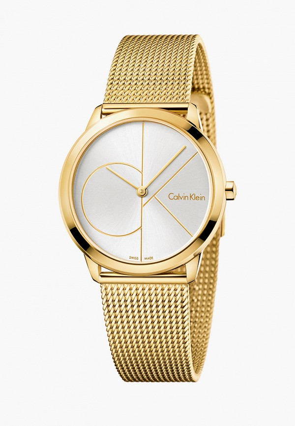 женские часы calvin klein, золотые