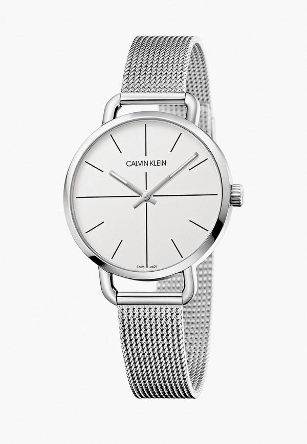 женские часы calvin klein, серебряные