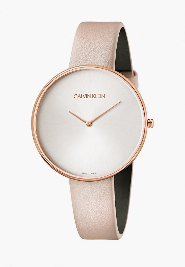 женские часы calvin klein, розовые