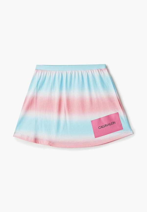 юбка calvin klein для девочки, разноцветная