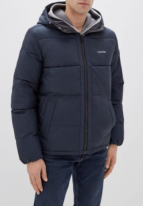 мужская утепленные куртка calvin klein, синяя