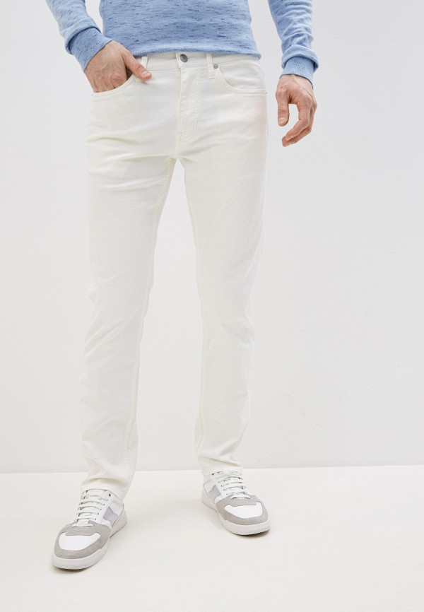 мужские зауженные джинсы calvin klein, белые