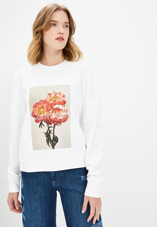 Купить Свитшот Calvin Klein, ca105ewcokh1, белый, Осень-зима 2018/2019