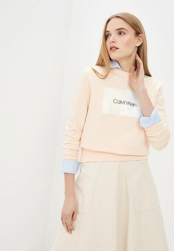 лучшая цена Свитшот Calvin Klein Calvin Klein CA105EWEGSD7