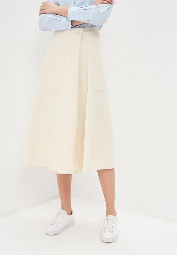женская юбка calvin klein, бежевая