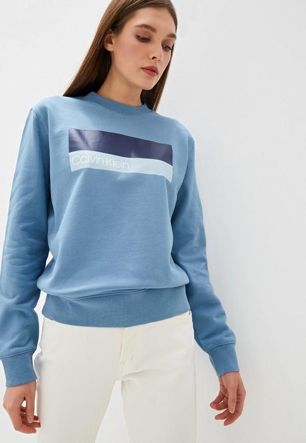 лучшая цена Свитшот Calvin Klein Calvin Klein CA105EWFGWT6