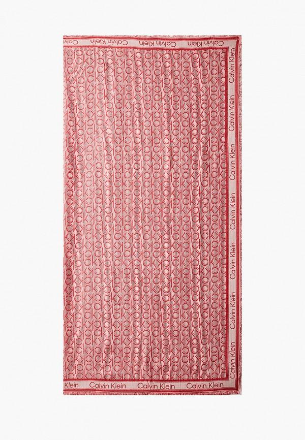 женский платок calvin klein, красный
