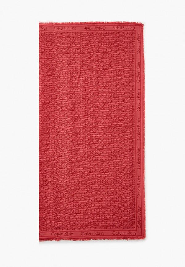 женский платок calvin klein, розовый