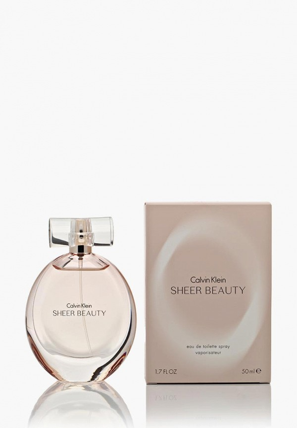 Купить Туалетная вода Calvin Klein, Sheer Beauty 50 мл, ca105lwef122, белый, Весна-лето 2019