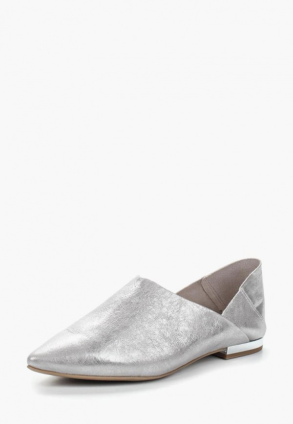 женские туфли caprice, серебряные