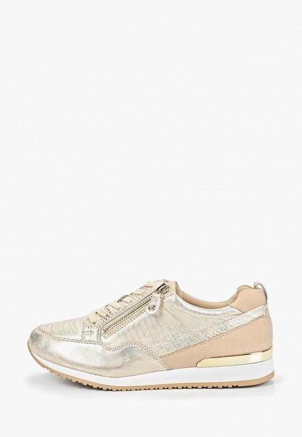 женские кроссовки caprice, золотые