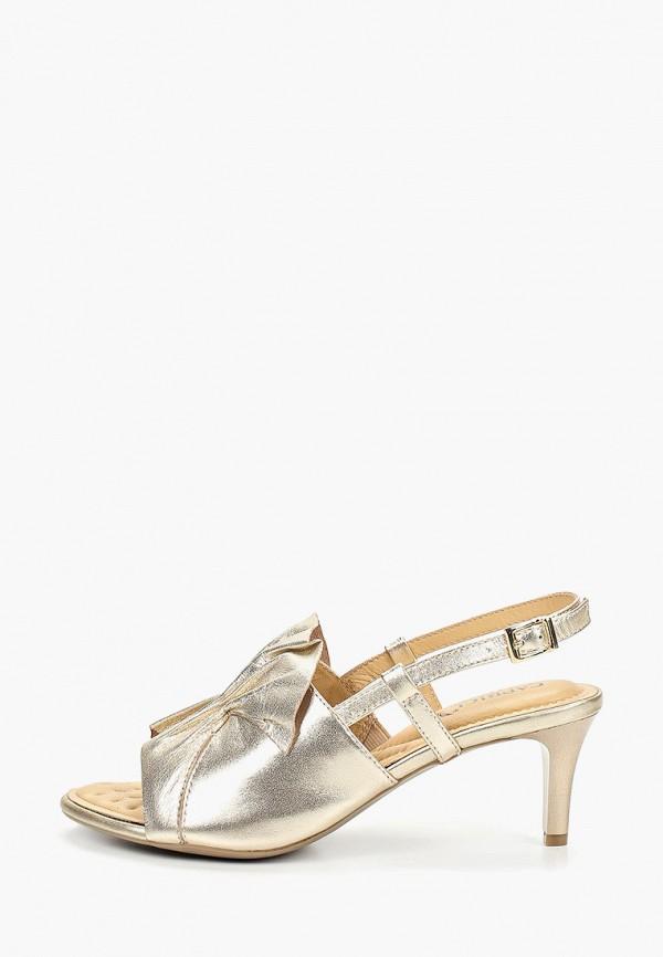 женские босоножки caprice, золотые