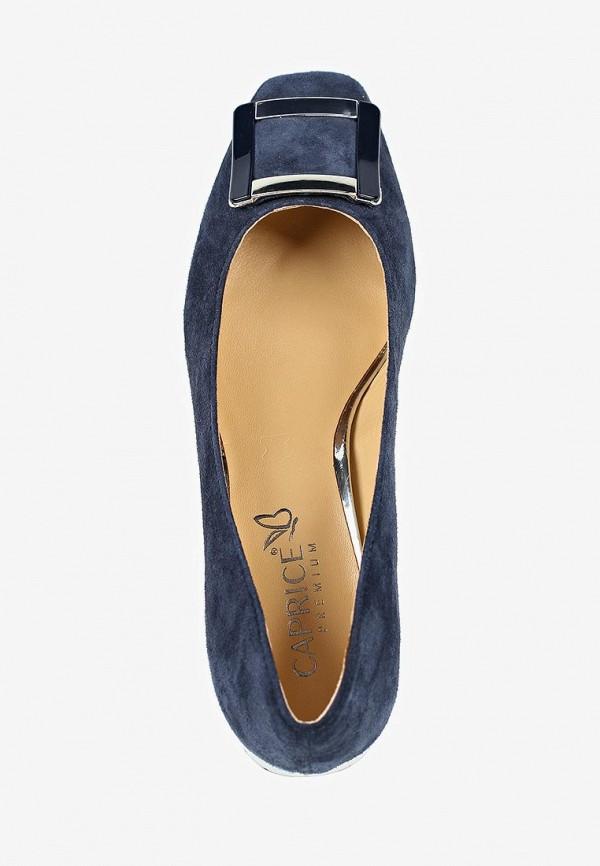 Фото 4 - женские туфли Caprice синего цвета