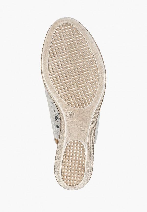 Фото 5 - женские босоножки Caprice серебрянного цвета