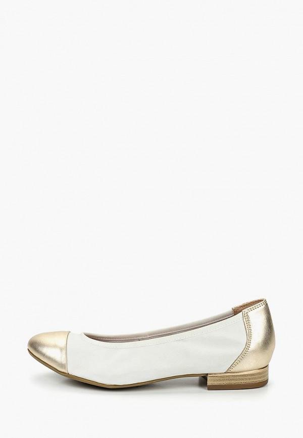 женские балетки caprice, белые