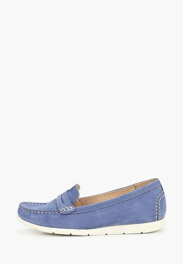 женские мокасины caprice, синие