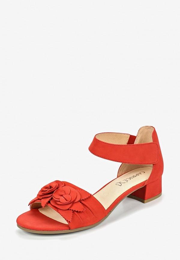 Фото 2 - женские босоножки Caprice красного цвета
