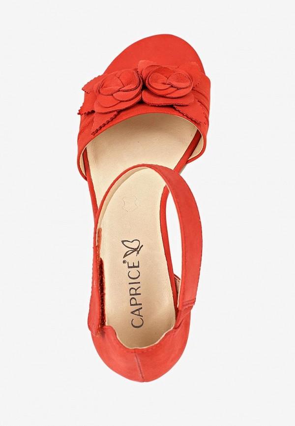 Фото 4 - женские босоножки Caprice красного цвета