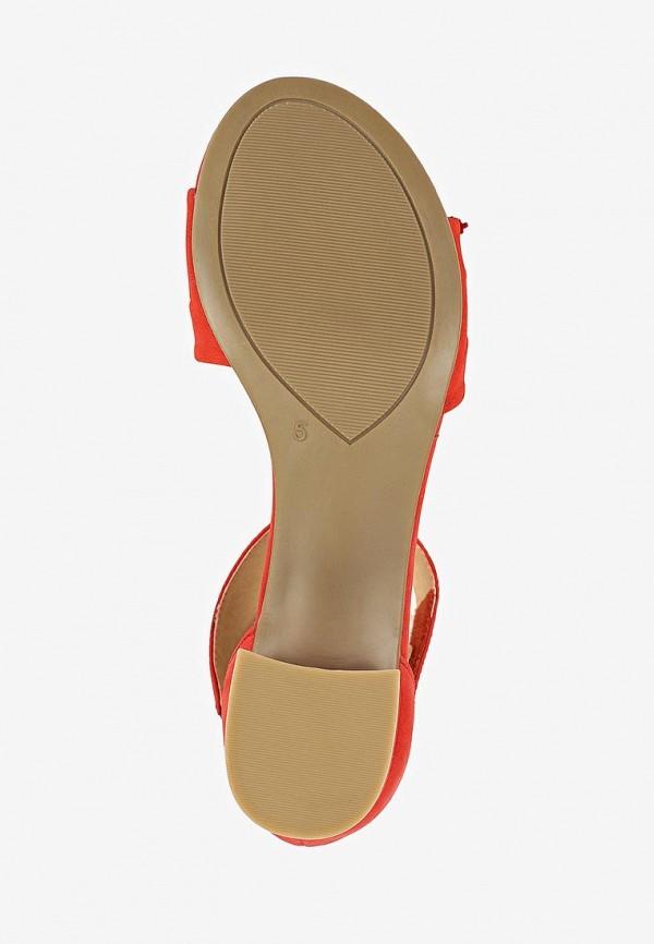 Фото 5 - женские босоножки Caprice красного цвета