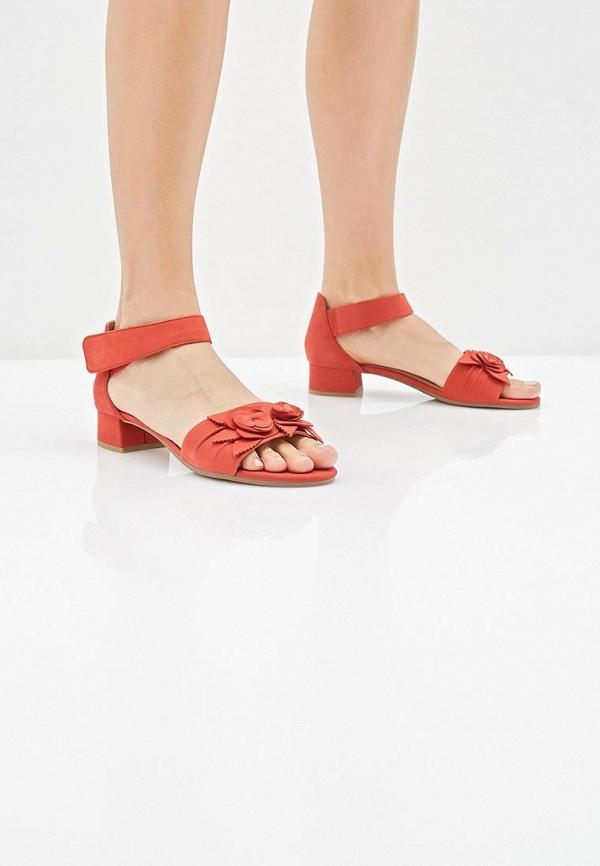 Фото 6 - женские босоножки Caprice красного цвета