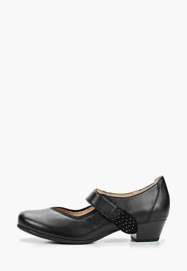 женские туфли caprice, черные