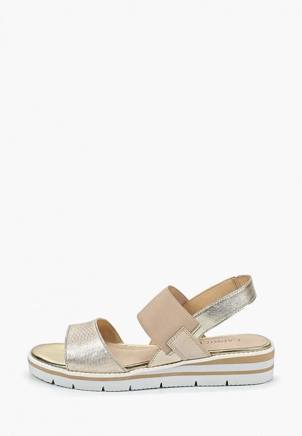 женские сандалии caprice, золотые