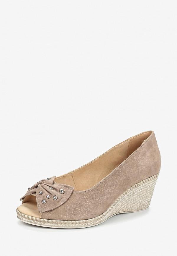 Фото 2 - женские туфли Caprice бежевого цвета