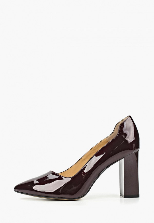 женские туфли caprice, бордовые