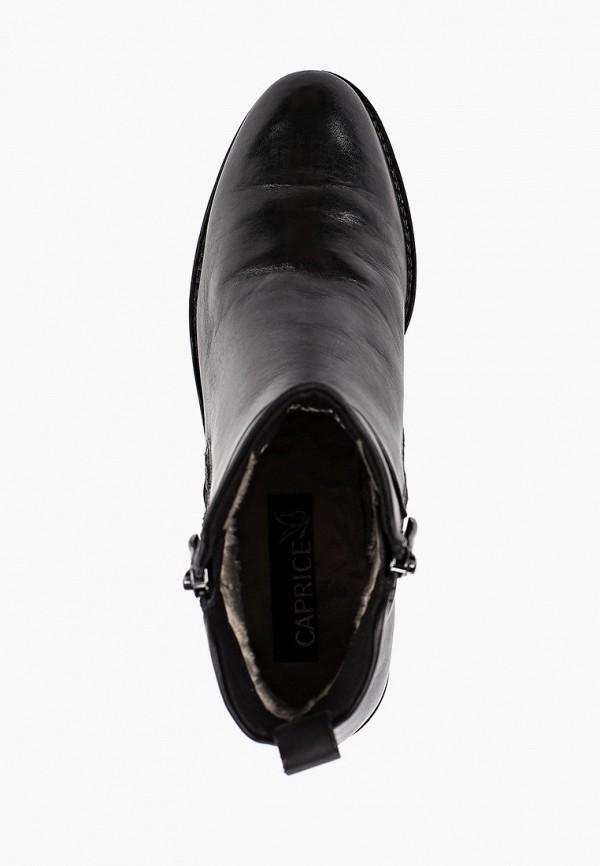 Фото 4 - женские ботинки и полуботинки Caprice черного цвета