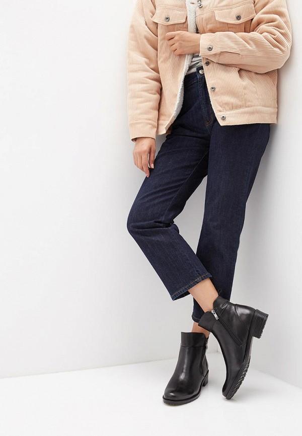 Фото 6 - женские ботинки и полуботинки Caprice черного цвета