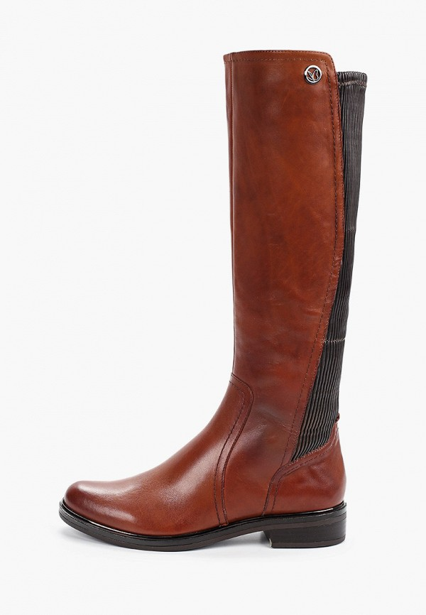 женские сапоги caprice, коричневые