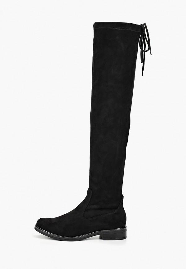 женские ботфорты caprice, черные