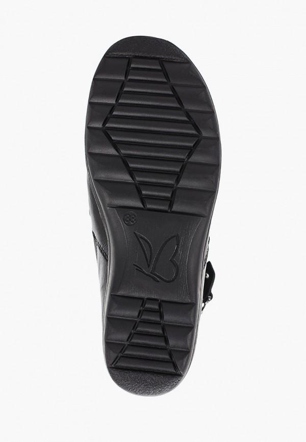 Фото 5 - женские ботинки и полуботинки Caprice черного цвета
