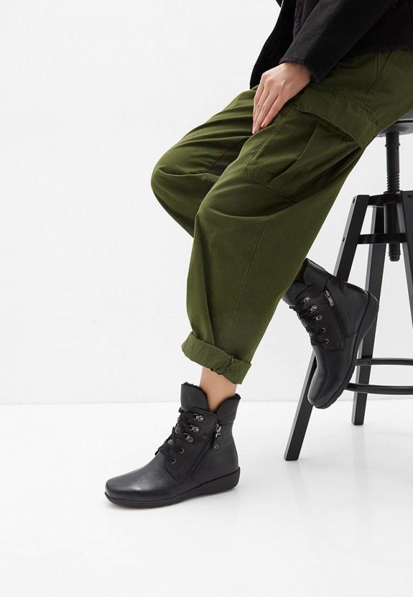 Фото 7 - женские ботинки и полуботинки Caprice черного цвета