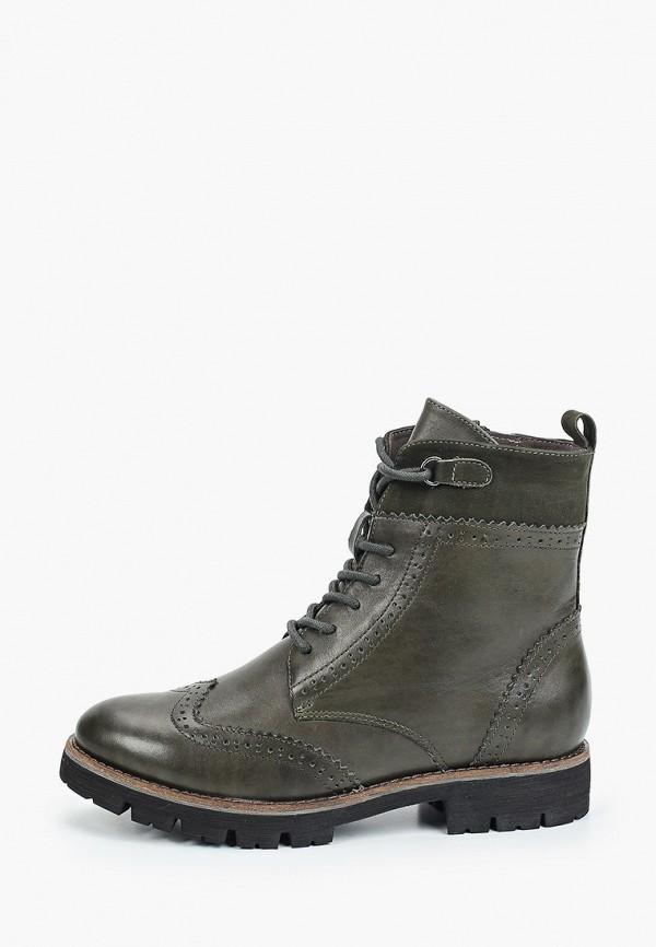 женские высокие ботинки caprice, зеленые