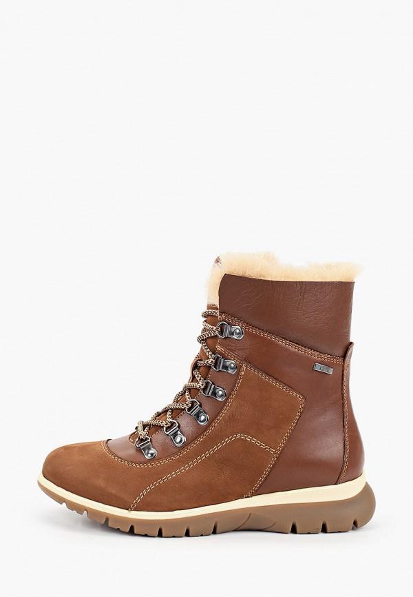 женские высокие ботинки caprice, коричневые