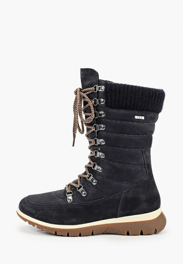 женские высокие ботинки caprice, синие