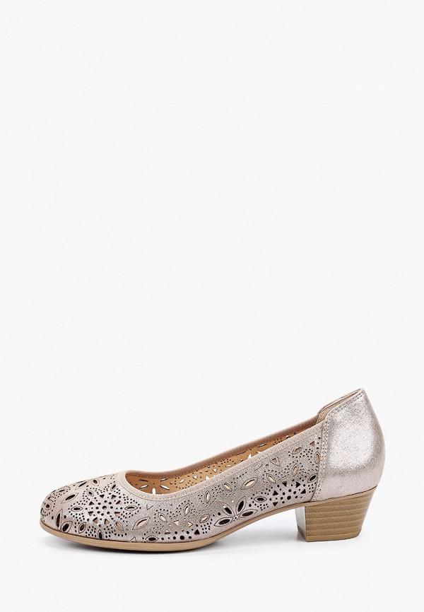 женские туфли с закрытым носом caprice, бежевые