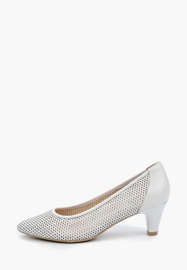 женские туфли-лодочки caprice, белые