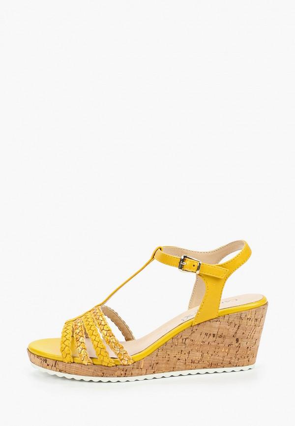 женские босоножки caprice, желтые