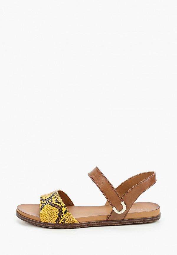 женские сандалии caprice, желтые