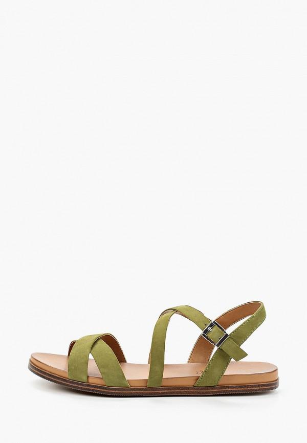 женские сандалии caprice, зеленые