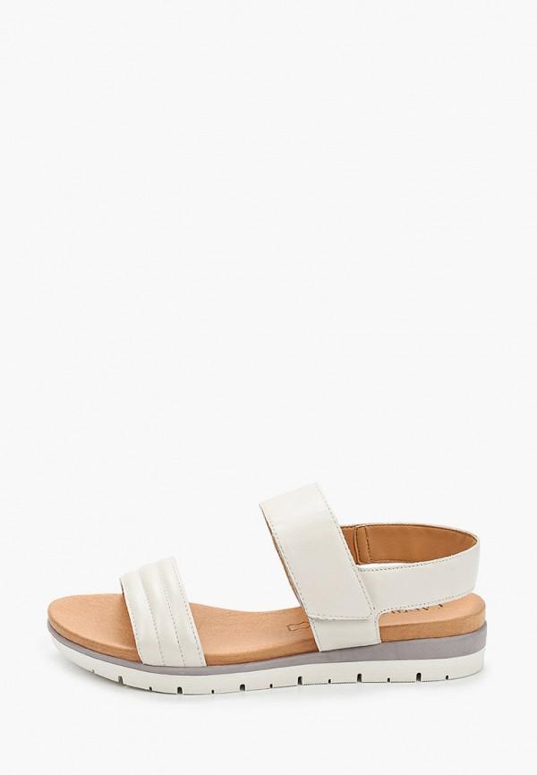 женские сандалии caprice, белые