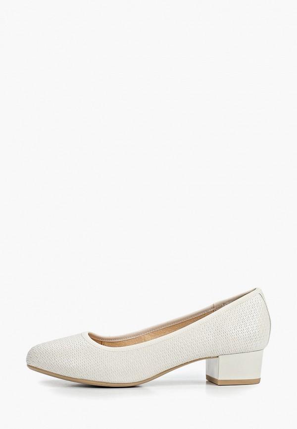 женские туфли с закрытым носом caprice, белые