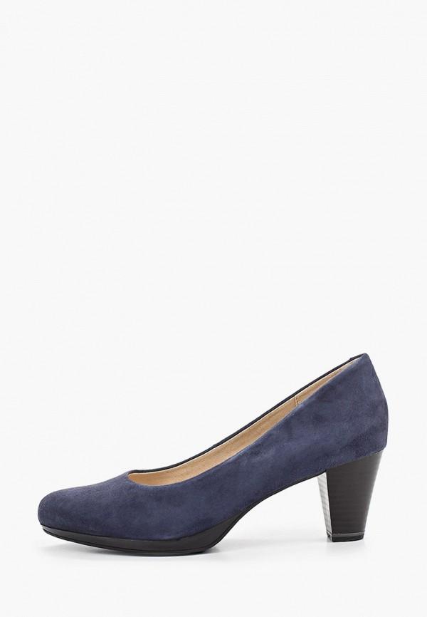 женские туфли caprice, синие