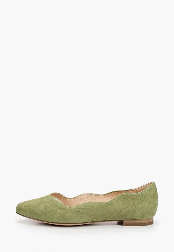 женские балетки caprice, зеленые