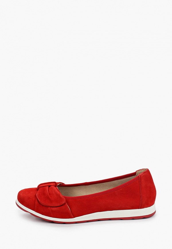 женские балетки caprice, красные